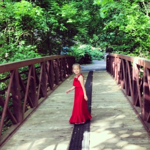 Yes, she hikes in a maxidress.